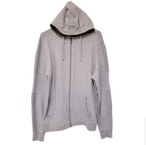 Broken Threads Sewn Style Hooded Sweater Gray XL